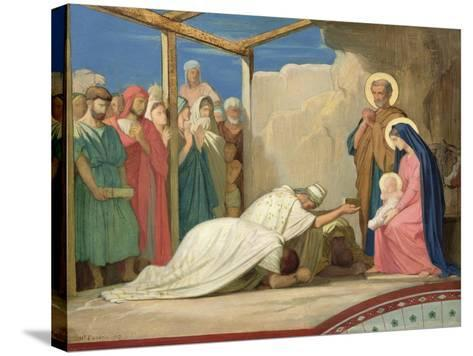 Adoration of the Magi, 1857-Hippolyte Flandrin-Stretched Canvas Print