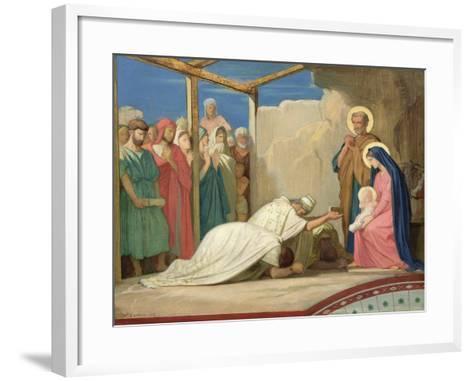 Adoration of the Magi, 1857-Hippolyte Flandrin-Framed Art Print