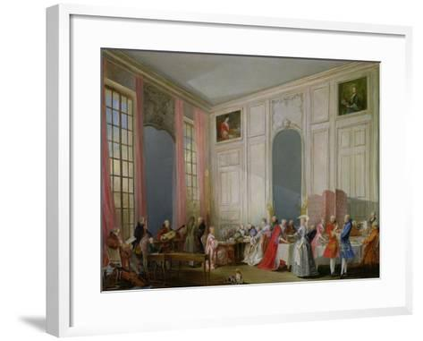 The English Tea (Le the a L'Anglaise) and a Society Concert at the House of the Princesse De Conti-Michel Barth?l?my Ollivier-Framed Art Print