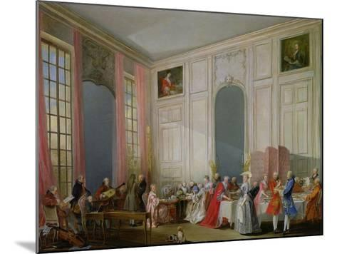The English Tea (Le the a L'Anglaise) and a Society Concert at the House of the Princesse De Conti-Michel Barth?l?my Ollivier-Mounted Giclee Print