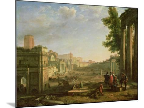 View of the Campo Vaccino, Rome-Claude Lorraine-Mounted Giclee Print