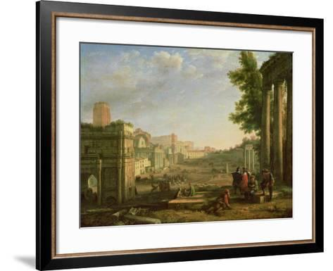 View of the Campo Vaccino, Rome-Claude Lorraine-Framed Art Print
