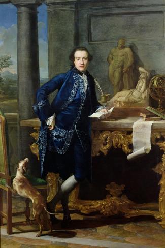Portrait of Charles John Crowle (1738-1811) of Crowle Park, circa 1761-62-Pompeo Batoni-Stretched Canvas Print
