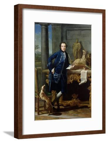 Portrait of Charles John Crowle (1738-1811) of Crowle Park, circa 1761-62-Pompeo Batoni-Framed Art Print