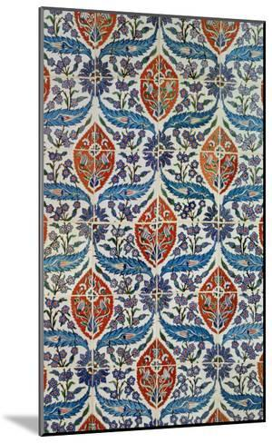 Panel of Isnik Earthenware Tiles from the Baths of Eyup Eusaki, Istanbul, circa 1550-1600--Mounted Giclee Print