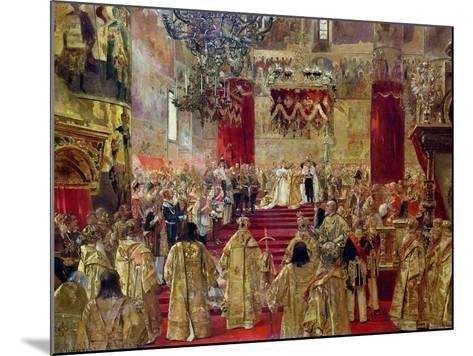 Study for the Coronation of Tsar Nicholas II (1868-1918) and Tsarina Alexandra (1872-1918)-Henri Gervex-Mounted Giclee Print