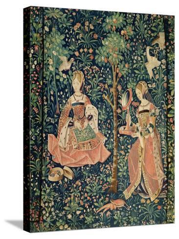 La Vie Seigneuriale: Embroidery, circa 1500--Stretched Canvas Print