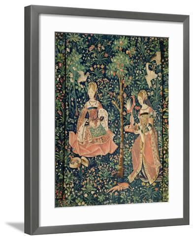 La Vie Seigneuriale: Embroidery, circa 1500--Framed Art Print