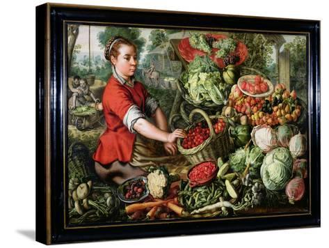 The Vegetable Seller-Joachim Beuckelaer-Stretched Canvas Print