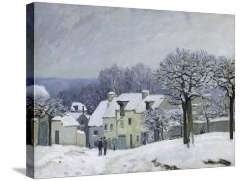 The Place Du Chenil at Marly-Le-Roi, Snow, 1876-Alfred Sisley-Stretched Canvas Print