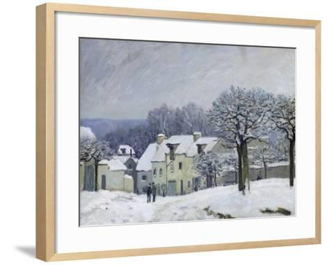 The Place Du Chenil at Marly-Le-Roi, Snow, 1876-Alfred Sisley-Framed Art Print