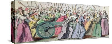 A Versailles, a Versailles' March of the Women on Versailles, Paris, 5th October 1789--Stretched Canvas Print
