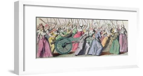 A Versailles, a Versailles' March of the Women on Versailles, Paris, 5th October 1789--Framed Art Print