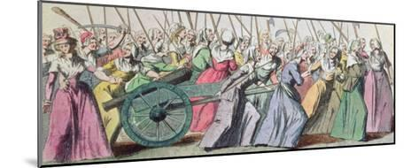 A Versailles, a Versailles' March of the Women on Versailles, Paris, 5th October 1789--Mounted Giclee Print