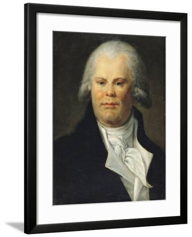 Portrait of Georges Danton (1759-94)--Framed Art Print