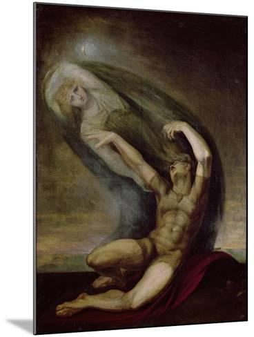 Achilles Searching for the Shade of Patrocles, 1803-Henry Fuseli-Mounted Giclee Print