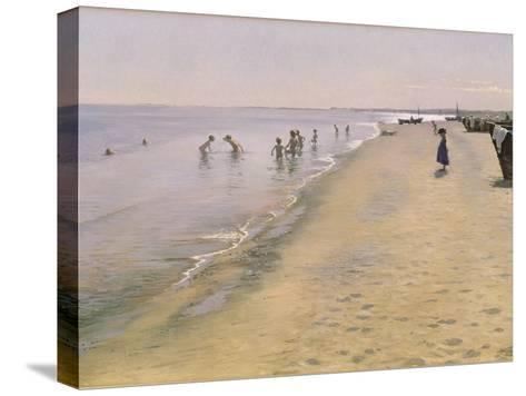 Summer Day at the South Beach of Skagen, 1884-Peder Severin Kr?yer-Stretched Canvas Print