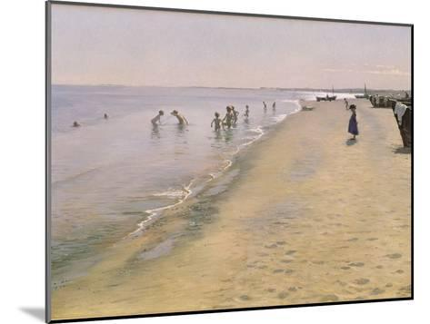 Summer Day at the South Beach of Skagen, 1884-Peder Severin Kr?yer-Mounted Giclee Print