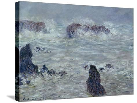 Storm, off the Coast of Belle-Ile, 1886-Claude Monet-Stretched Canvas Print