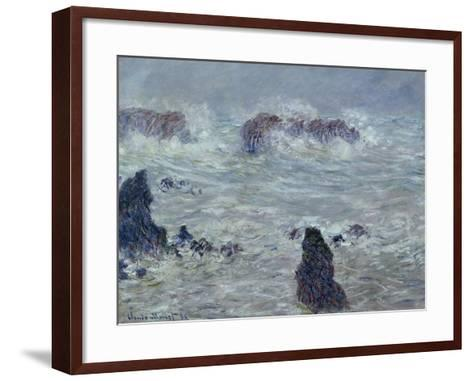 Storm, off the Coast of Belle-Ile, 1886-Claude Monet-Framed Art Print