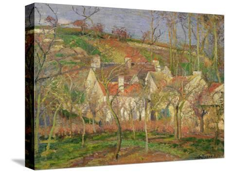 The Red Roofs, or Corner of a Village, Winter, 1877-Camille Pissarro-Stretched Canvas Print