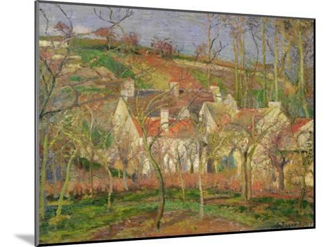 The Red Roofs, or Corner of a Village, Winter, 1877-Camille Pissarro-Mounted Giclee Print