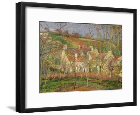 The Red Roofs, or Corner of a Village, Winter, 1877-Camille Pissarro-Framed Art Print