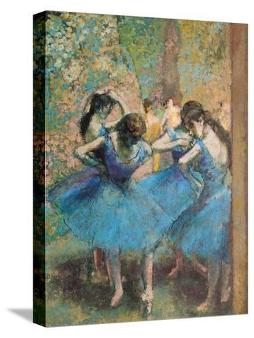 Dancers in Blue, c.1895-Edgar Degas-Stretched Canvas Print