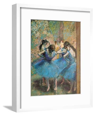 Dancers in Blue, c.1895-Edgar Degas-Framed Art Print