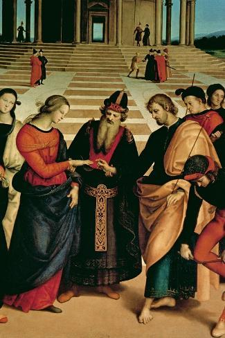 The Marriage of the Virgin, 1504-Raphael-Stretched Canvas Print