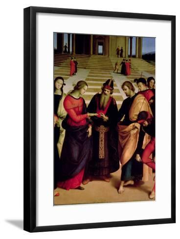 The Marriage of the Virgin, 1504-Raphael-Framed Art Print