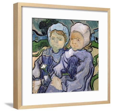 Two Little Girls, c.1890-Vincent van Gogh-Framed Art Print