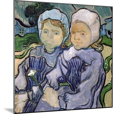 Two Little Girls, c.1890-Vincent van Gogh-Mounted Giclee Print