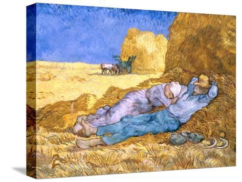 Midday Rest (after Millet), c.1890-Vincent van Gogh-Stretched Canvas Print
