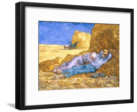 Midday Rest (after Millet), c.1890-Vincent van Gogh-Framed Art Print