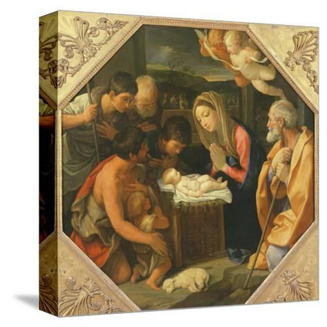 The Adoration of the Shepherds-Guido Reni-Stretched Canvas Print