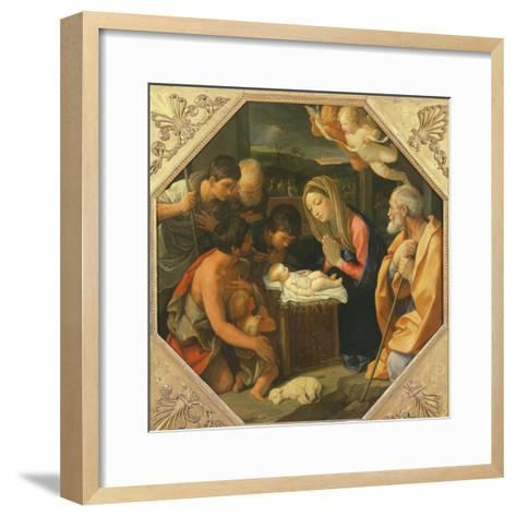 The Adoration of the Shepherds-Guido Reni-Framed Art Print