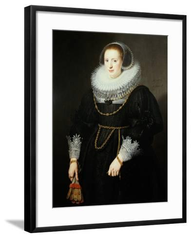 Portrait of a Girl, Aged 18-Michiel Jansz. van Miereveld-Framed Art Print