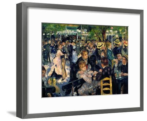 Ball at the Moulin De La Galette, 1876-Pierre-Auguste Renoir-Framed Art Print