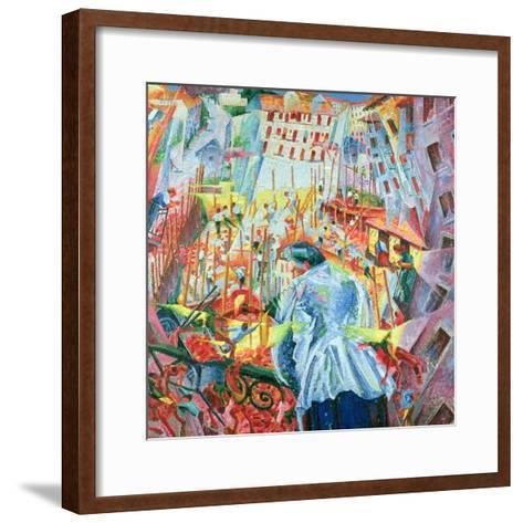 The Street Enters the House, 1911-Umberto Boccioni-Framed Art Print