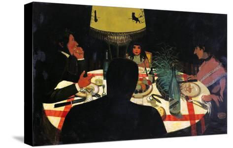 Dinner by Lamplight, 1899-F?lix Vallotton-Stretched Canvas Print