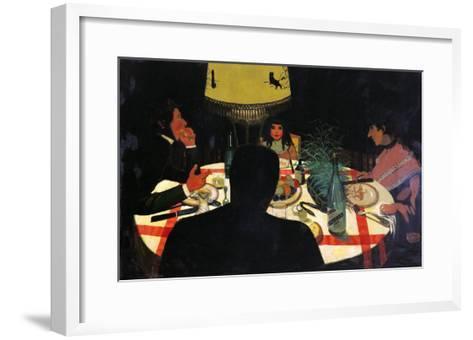 Dinner by Lamplight, 1899-F?lix Vallotton-Framed Art Print