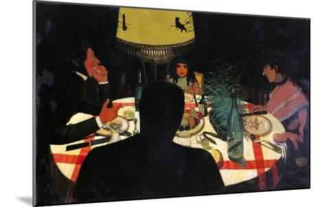 Dinner by Lamplight, 1899-F?lix Vallotton-Mounted Giclee Print