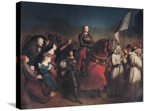 The Entry of Joan of Arc (1412-31) into Orleans, 8th May 1429, 1843-Henry Scheffer-Stretched Canvas Print