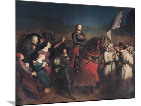 The Entry of Joan of Arc (1412-31) into Orleans, 8th May 1429, 1843-Henry Scheffer-Mounted Giclee Print