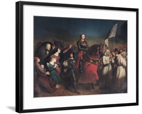 The Entry of Joan of Arc (1412-31) into Orleans, 8th May 1429, 1843-Henry Scheffer-Framed Art Print