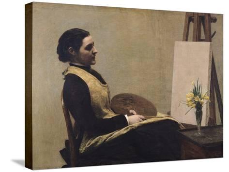 The Study-Henri Fantin-Latour-Stretched Canvas Print