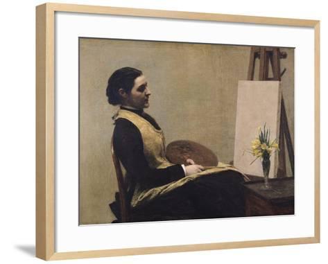 The Study-Henri Fantin-Latour-Framed Art Print