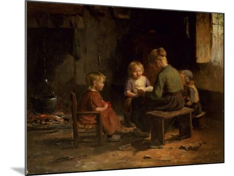 The Reading Lesson-Evert Pieters-Mounted Giclee Print