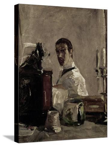 Self Portrait, 1880-Henri de Toulouse-Lautrec-Stretched Canvas Print